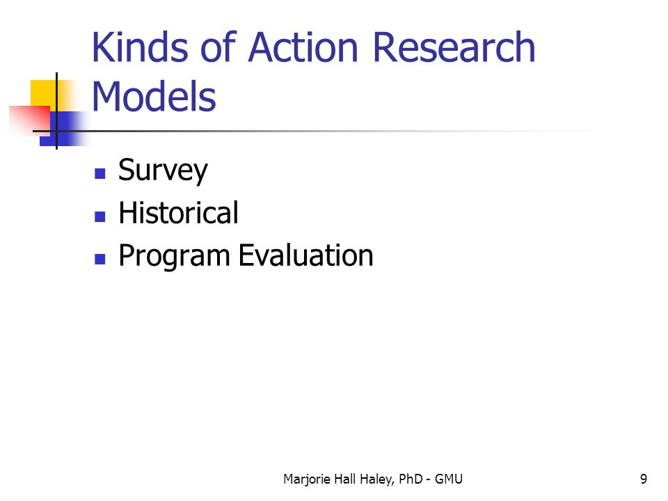 Kinds of Action Research Models
