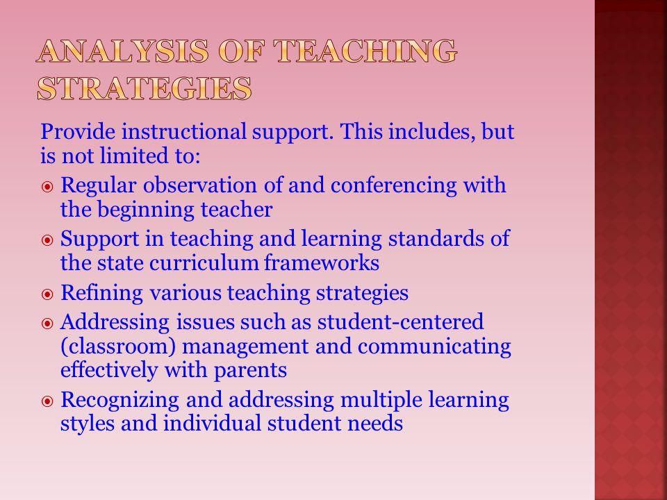 Analysis of Teaching Strategies