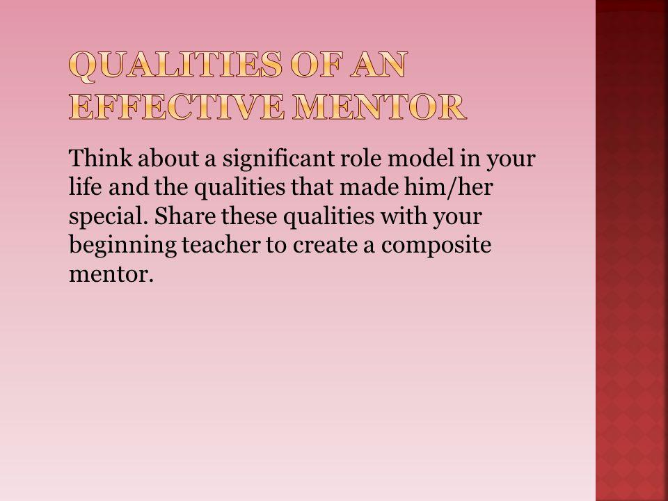 Qualities of an Effective Mentor