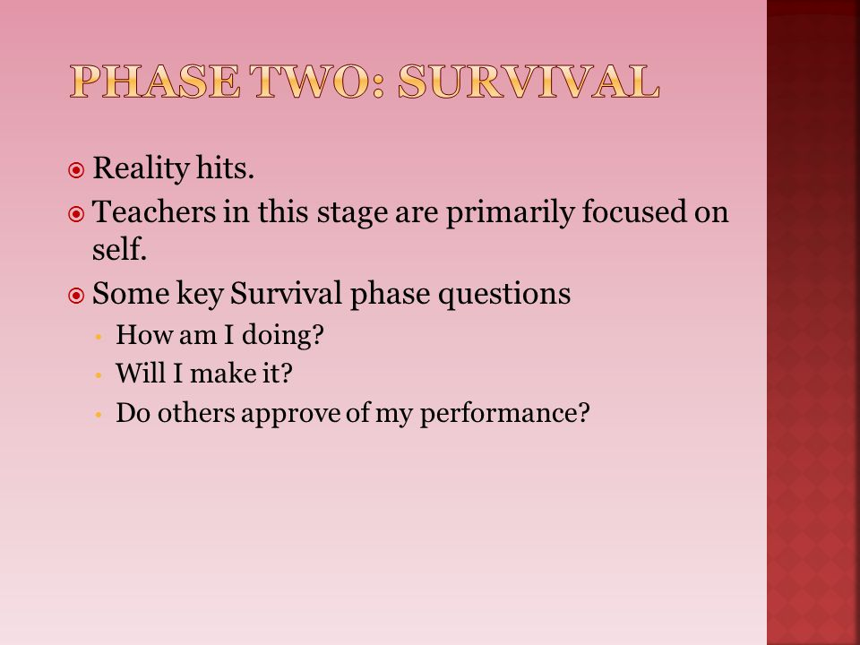 Phase Two: Survival Reality hits.