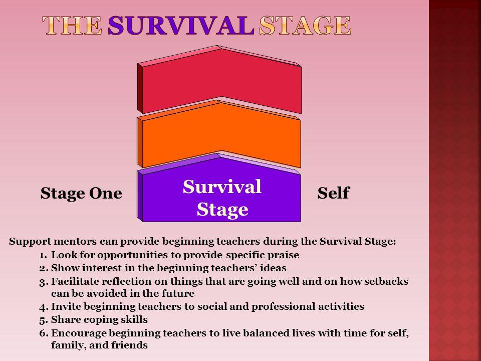 The SURVIVAL Stage Survival Stage Stage One Self