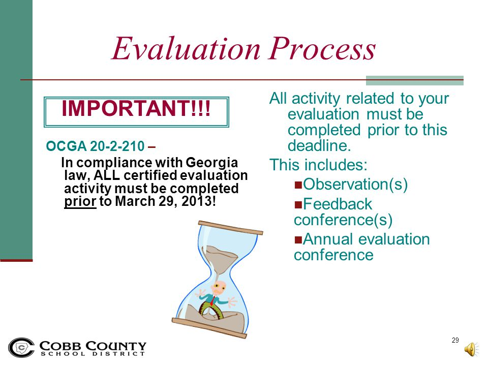 Evaluation Process IMPORTANT!!!