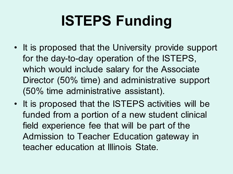 ISTEPS Funding