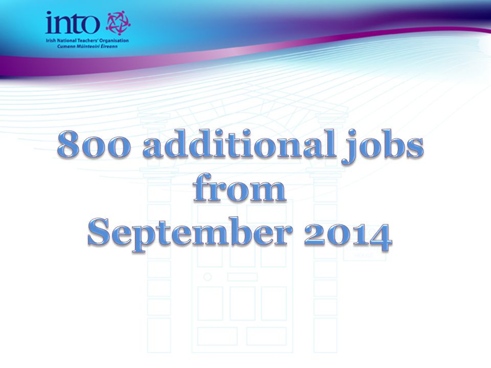 800 additional jobs from September 2014