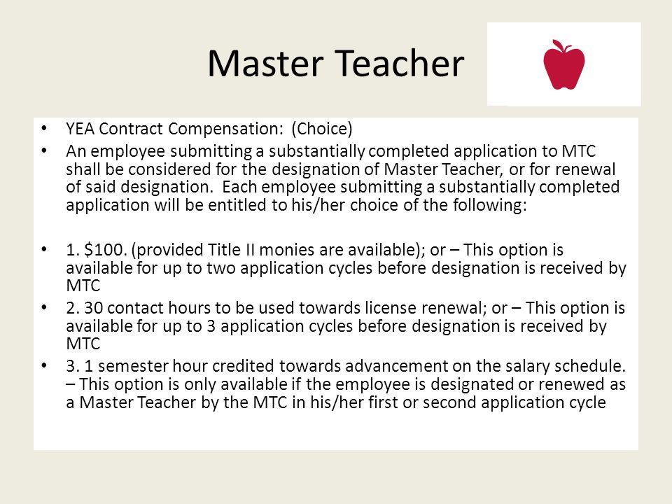 Master Teacher – Voluntary Recognition Program in Ohio