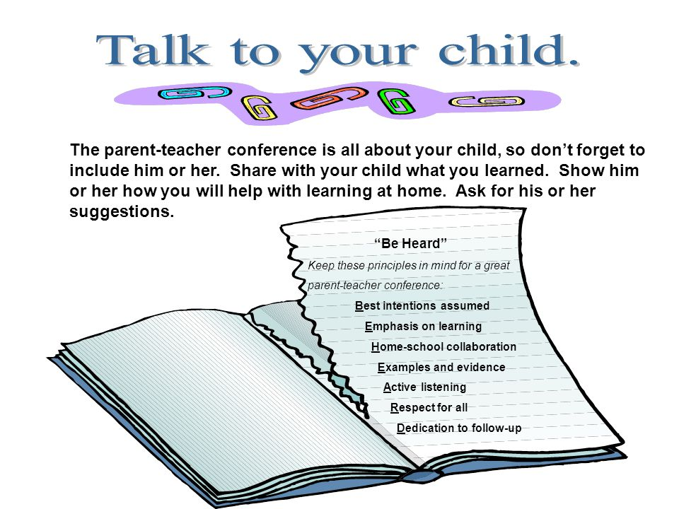 Talk to your child.