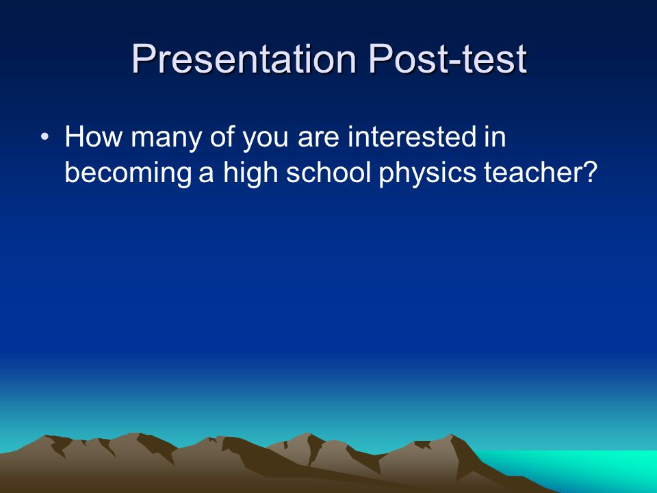 Presentation Post-test