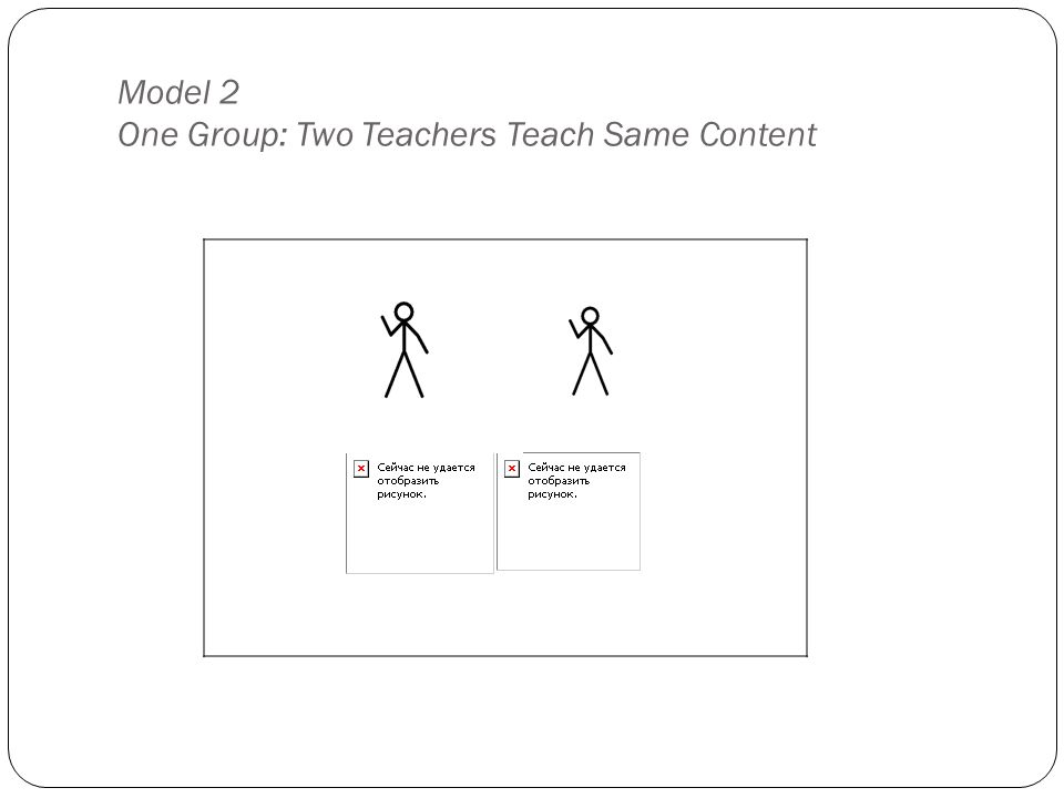 Model 2 One Group: Two Teachers Teach Same Content