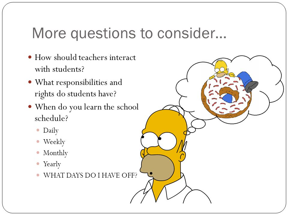 More questions to consider…