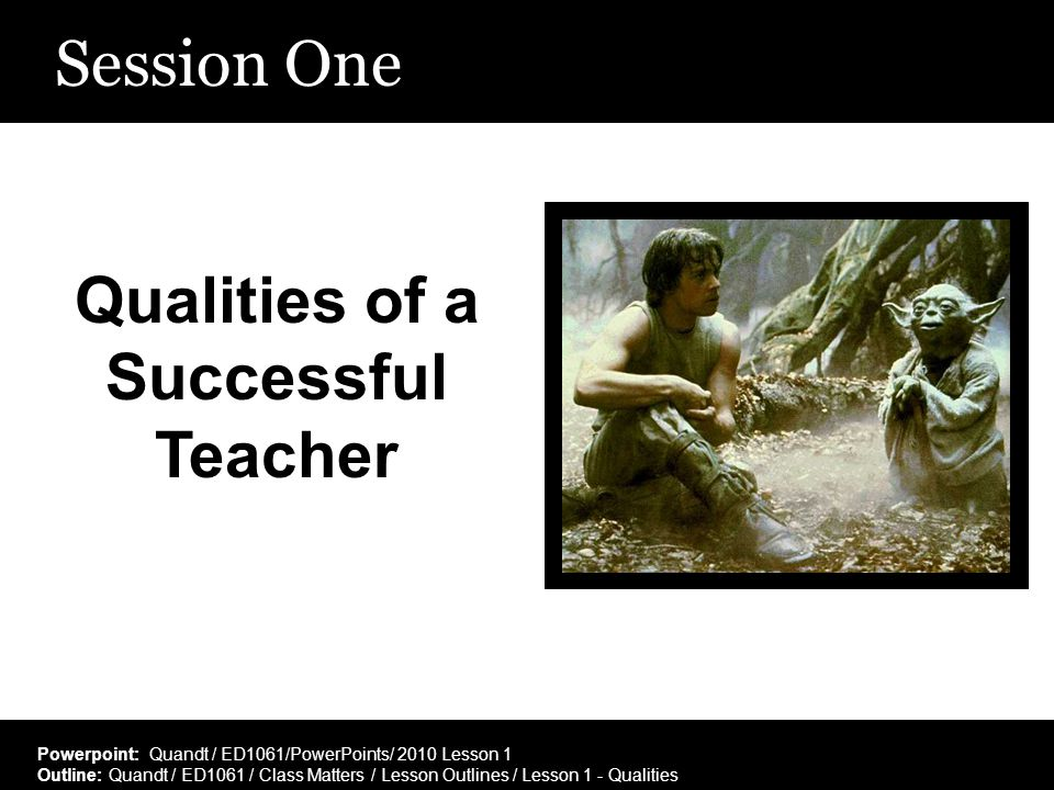 Qualities of a Successful Teacher