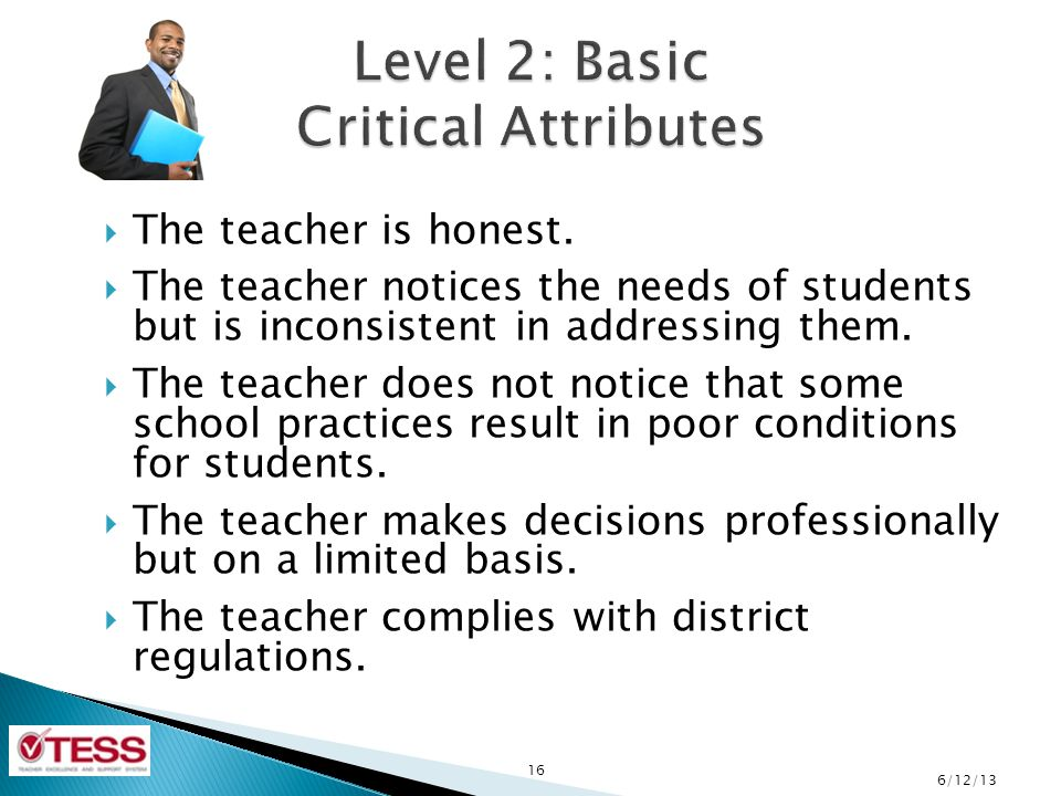 Level 2: Basic Critical Attributes