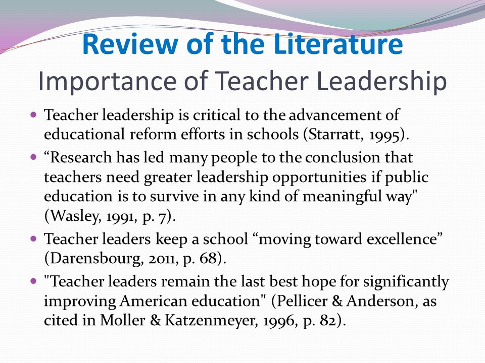 What Does the Research Tell Us About Teacher Leadership?