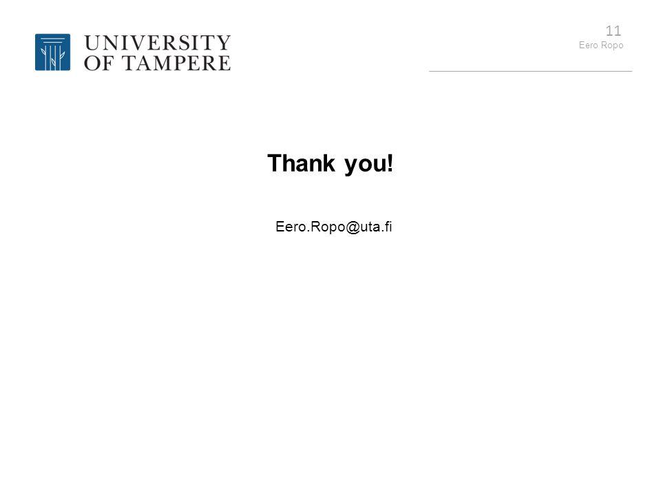 Thank you! Eero.Ropo@uta.fi