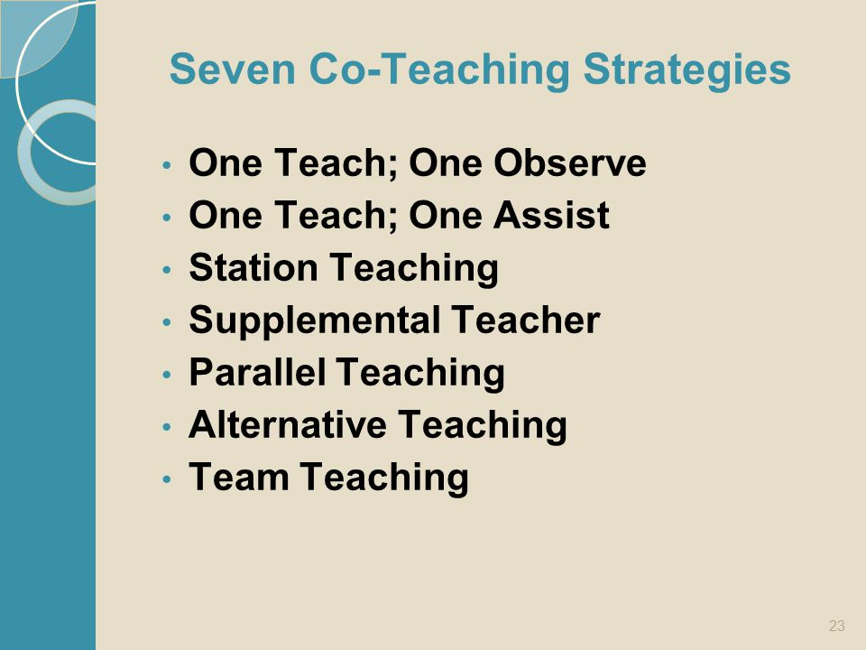Seven Co-Teaching Strategies