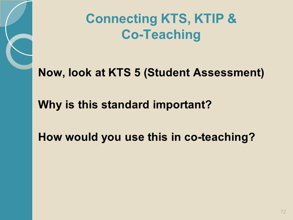 Connecting KTS, KTIP & Co-Teaching