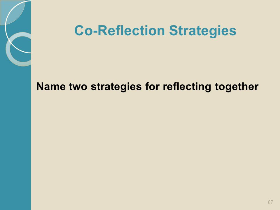 Co-Reflection Strategies