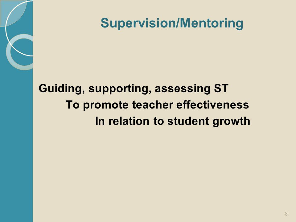 Supervision/Mentoring