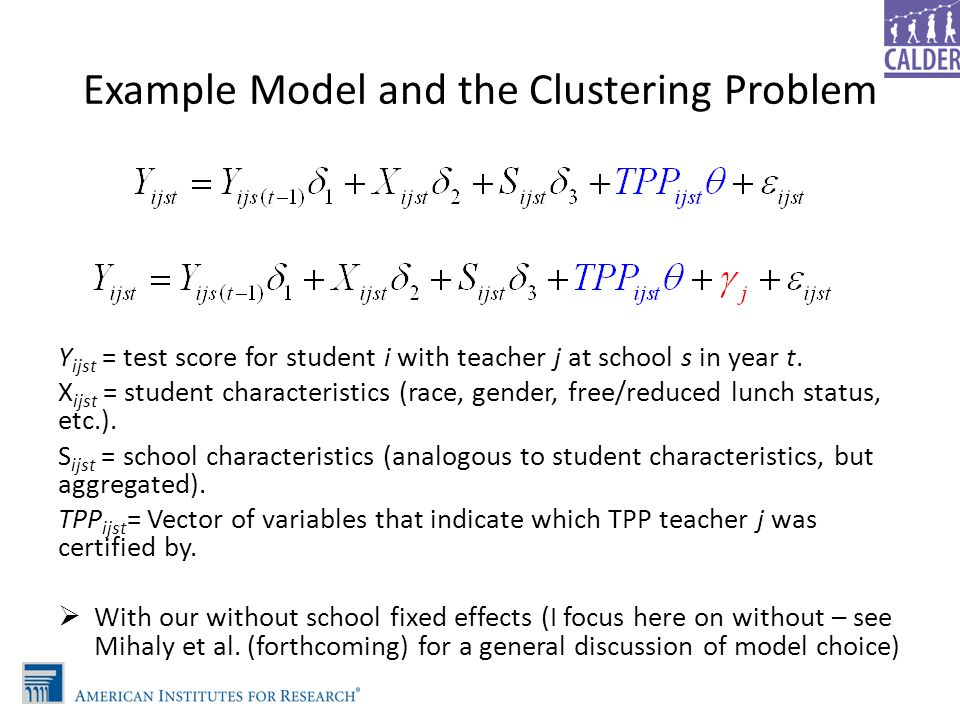 Example Model and the Clustering Problem