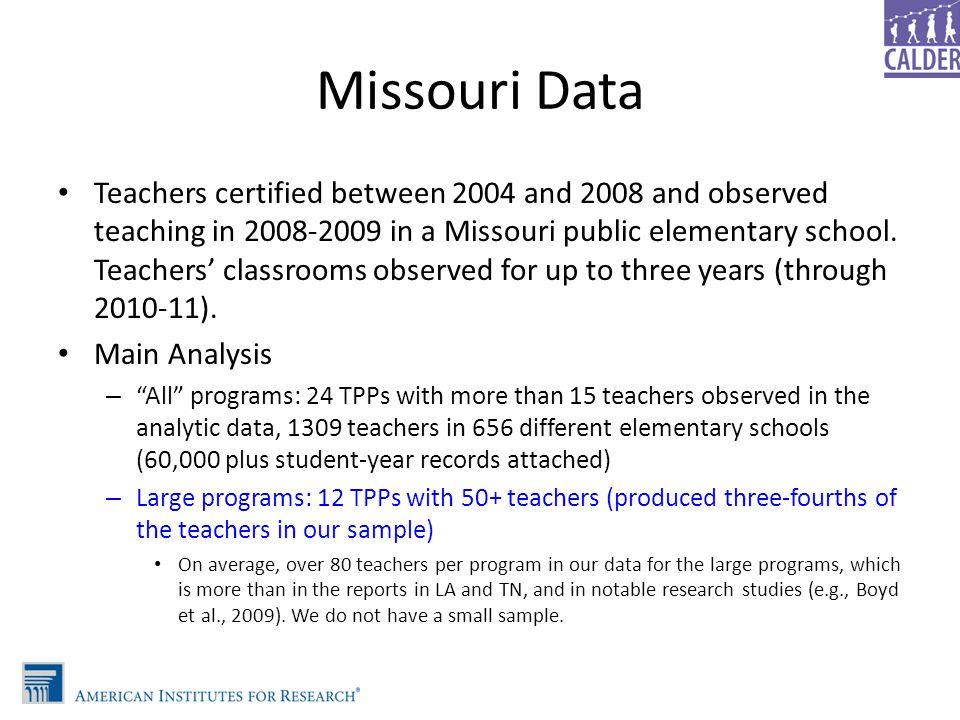 Missouri Data