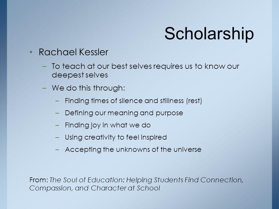 Scholarship Rachael Kessler