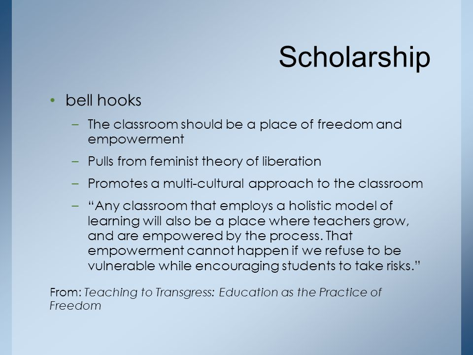 Scholarship bell hooks