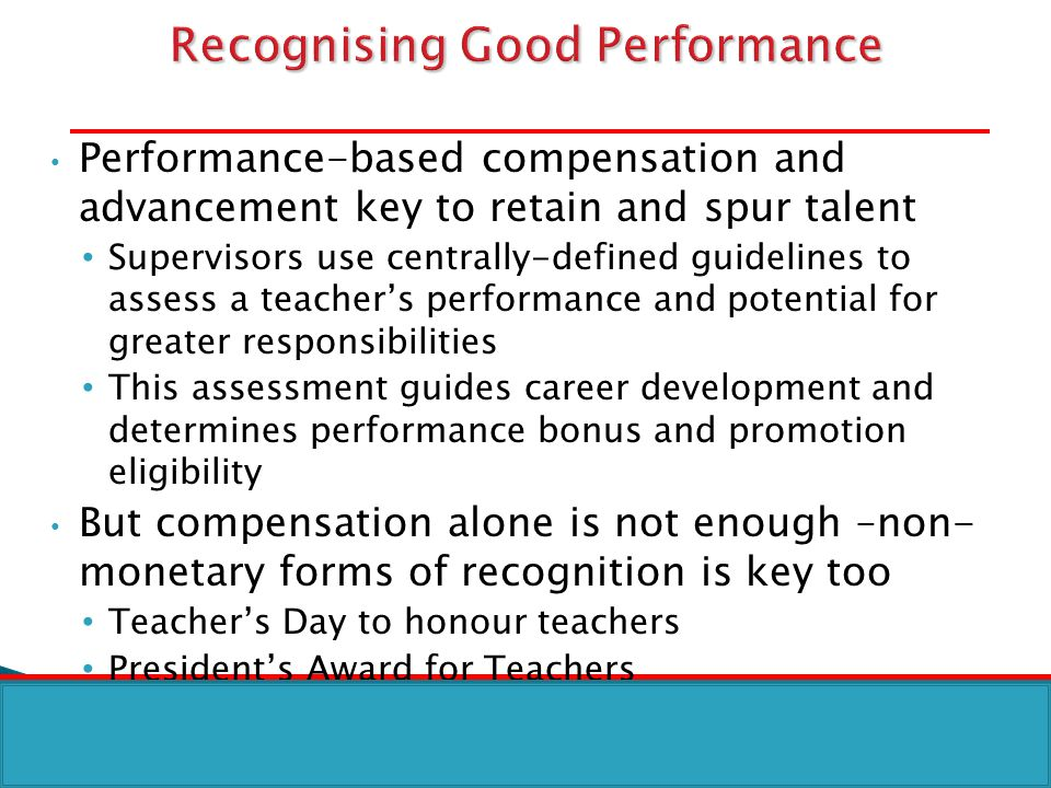 Recognising Good Performance