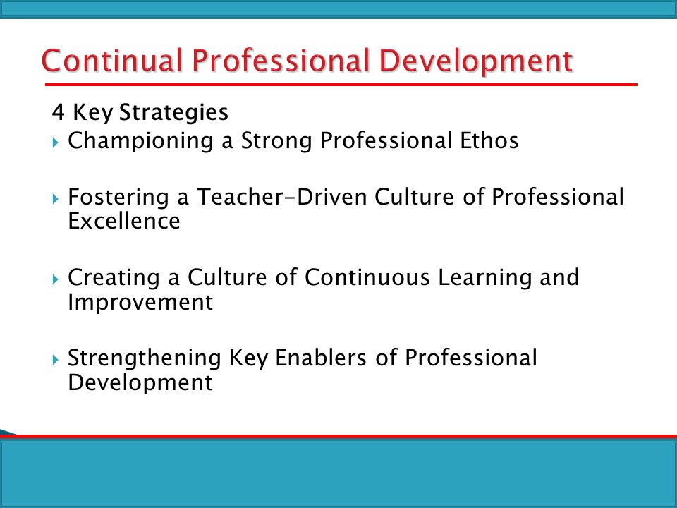 Continual Professional Development