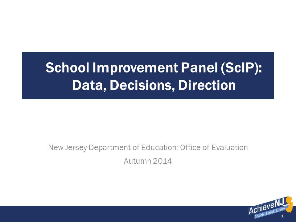 School Improvement Panel (ScIP): Data, Decisions, Direction