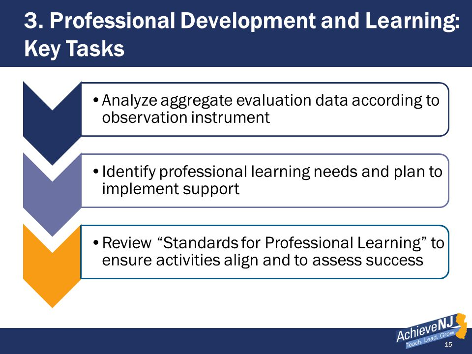 3. Professional Development and Learning: Key Tasks