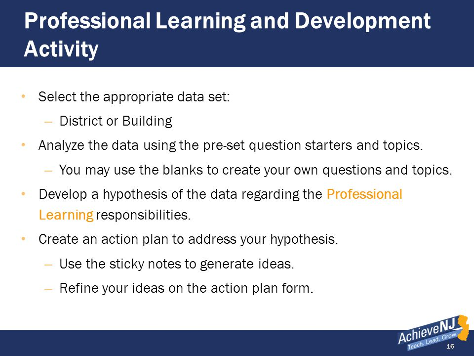 Professional Learning and Development Activity