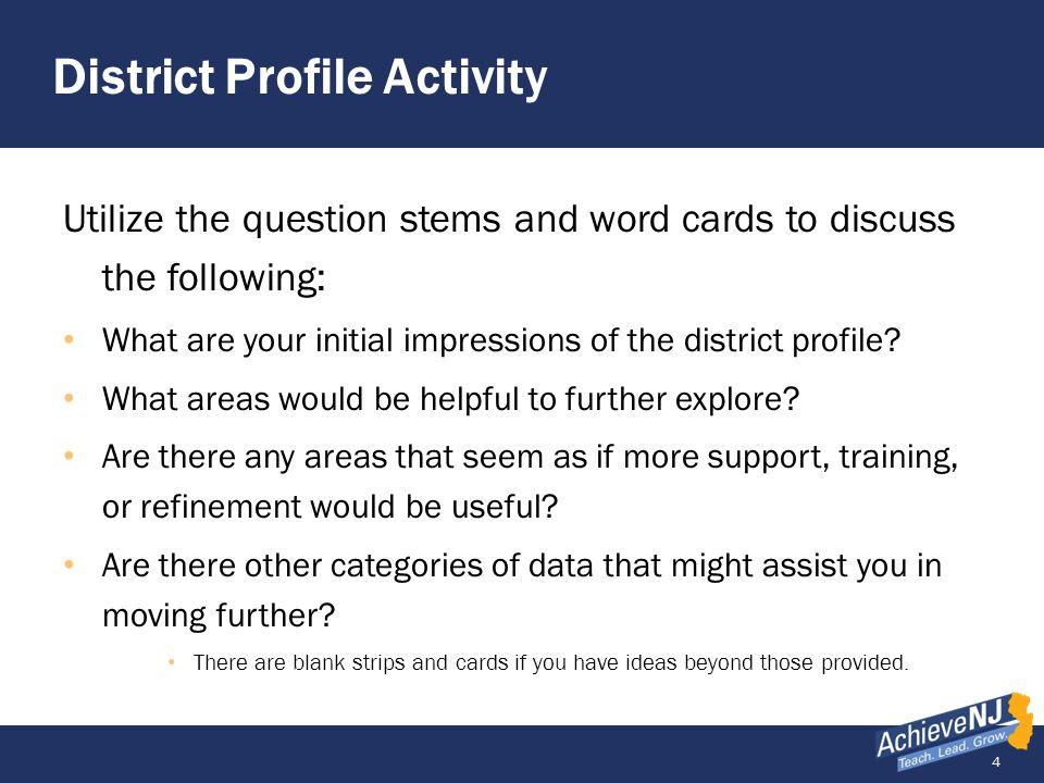 District Profile Activity