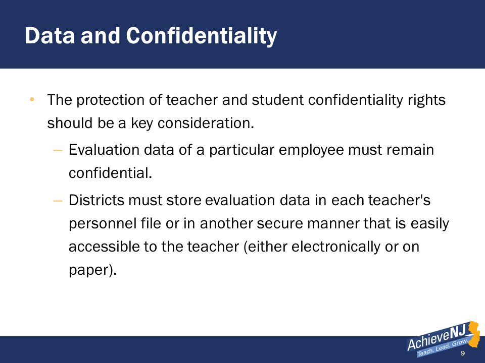 Data and Confidentiality