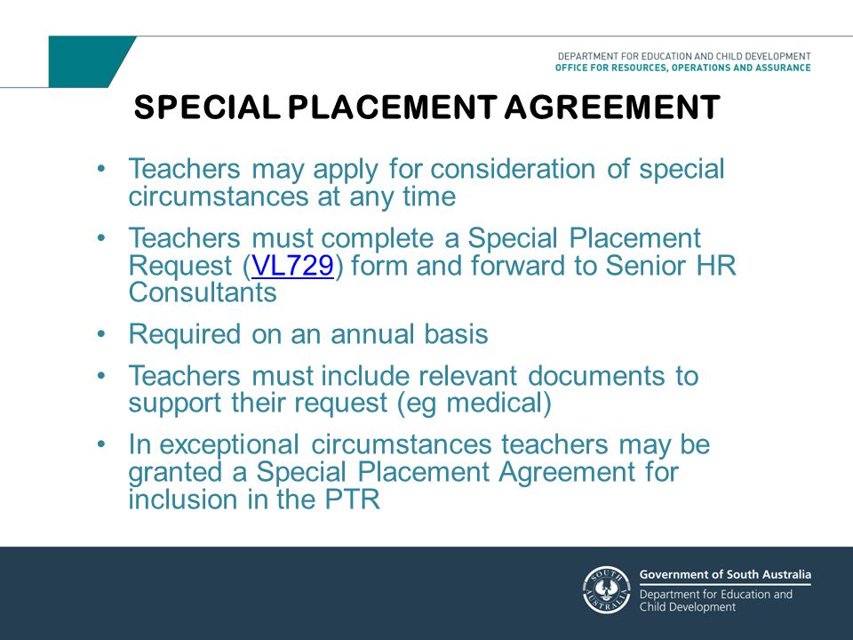 SPECIAL PLACEMENT AGREEMENT