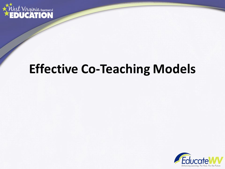 Effective Co-Teaching Models