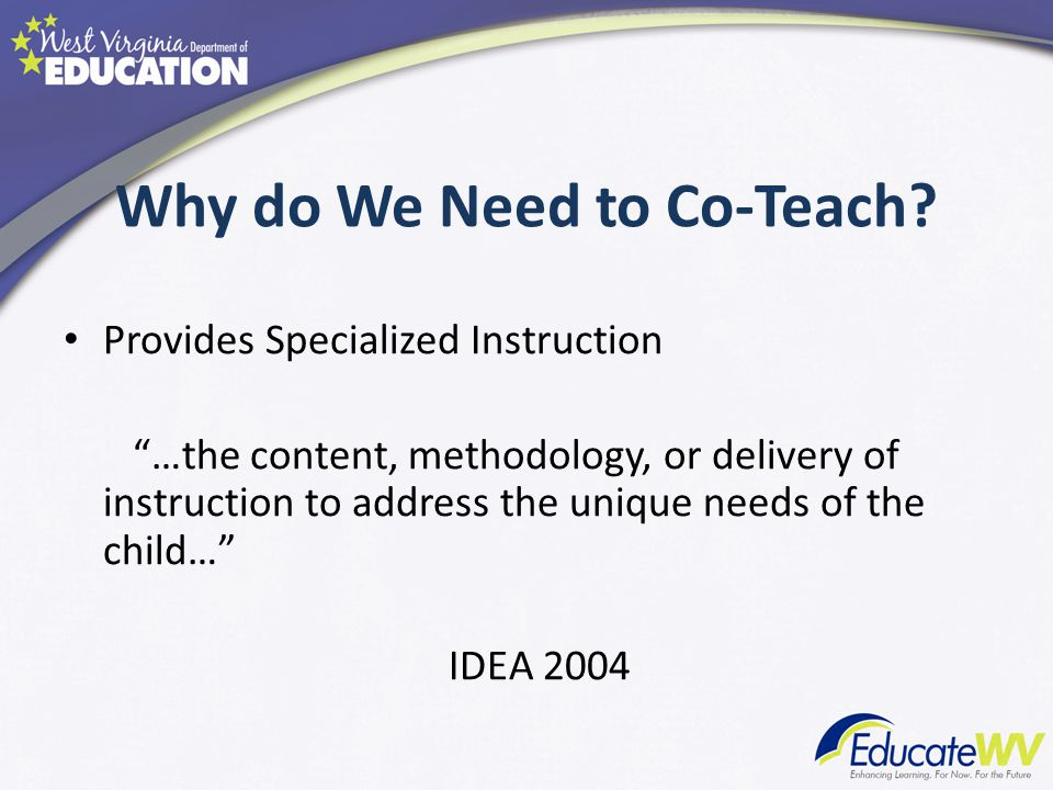 Why do We Need to Co-Teach
