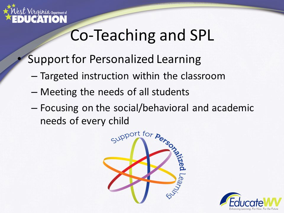 Co-Teaching and SPL Support for Personalized Learning