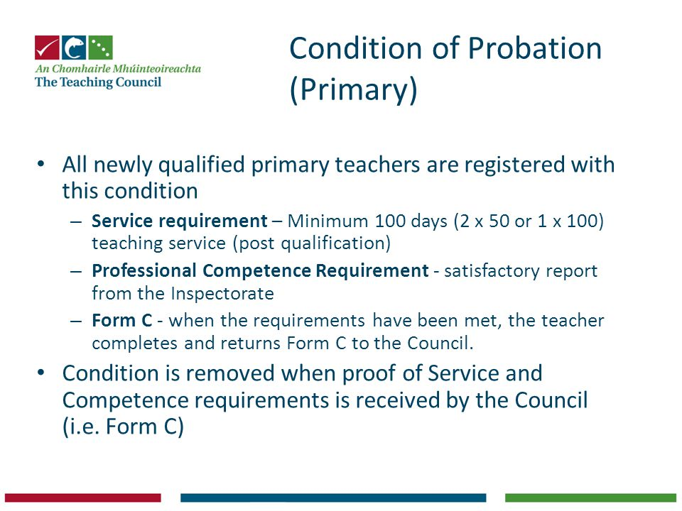 Condition of Probation (Primary)