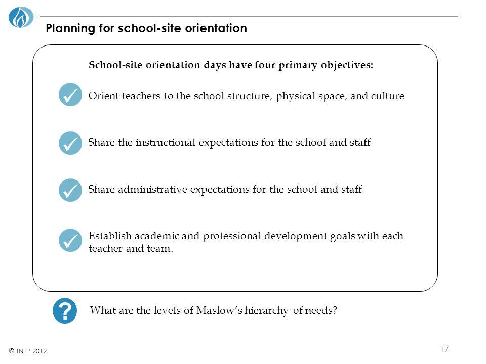 Planning for school-site orientation