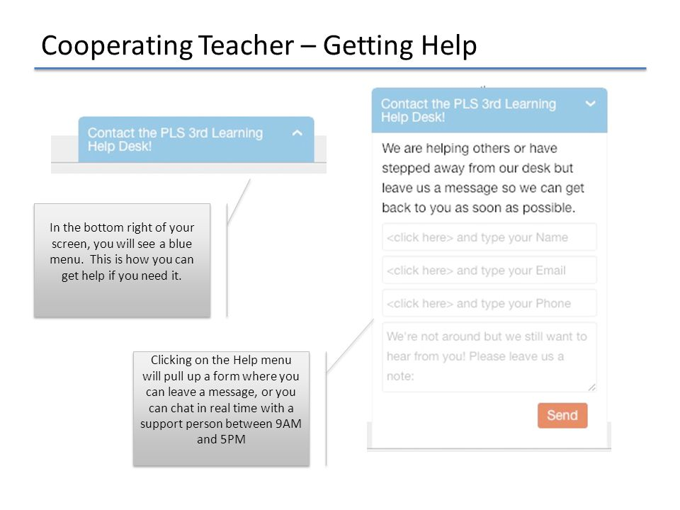 Cooperating Teacher – Getting Help