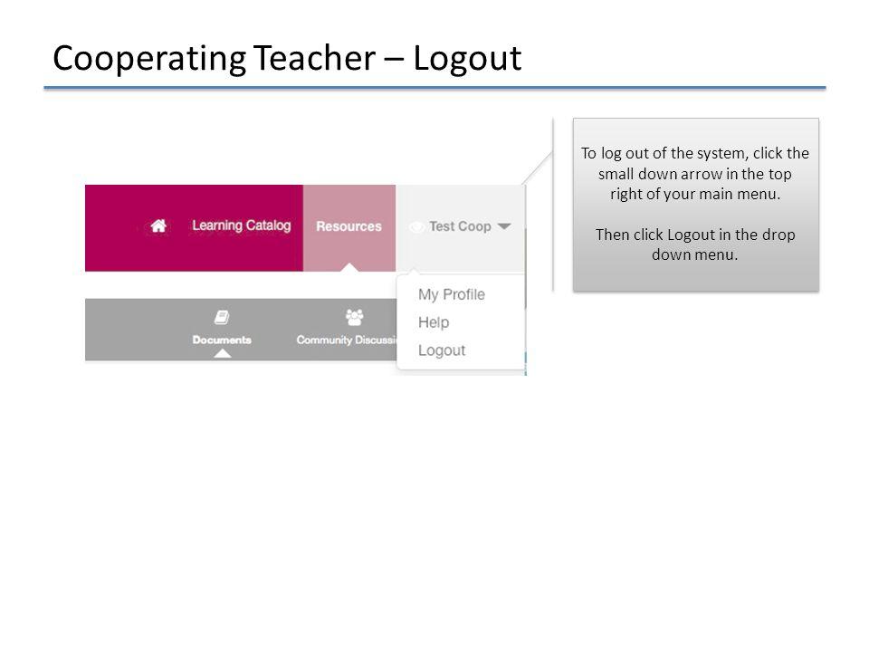 Cooperating Teacher – Logout