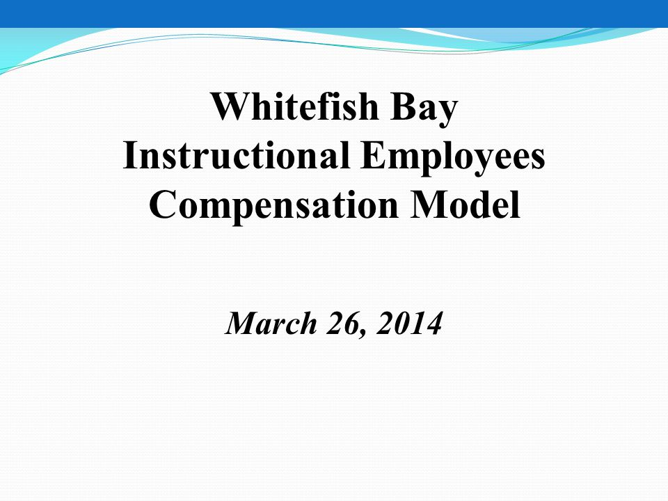 Instructional Employees Compensation Model