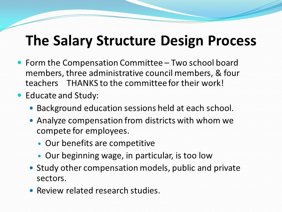 The Salary Structure Design Process