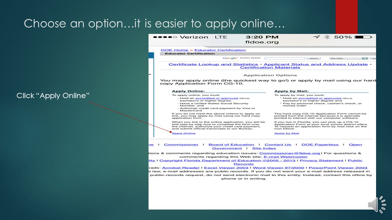 Choose an option…it is easier to apply online…