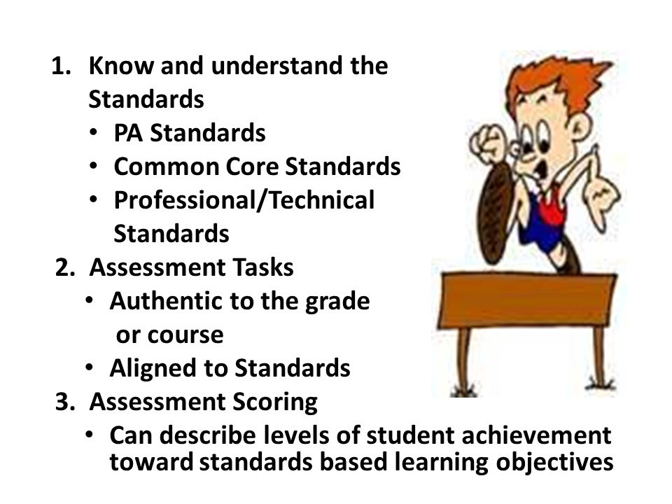 Know and understand the Standards PA Standards Common Core Standards