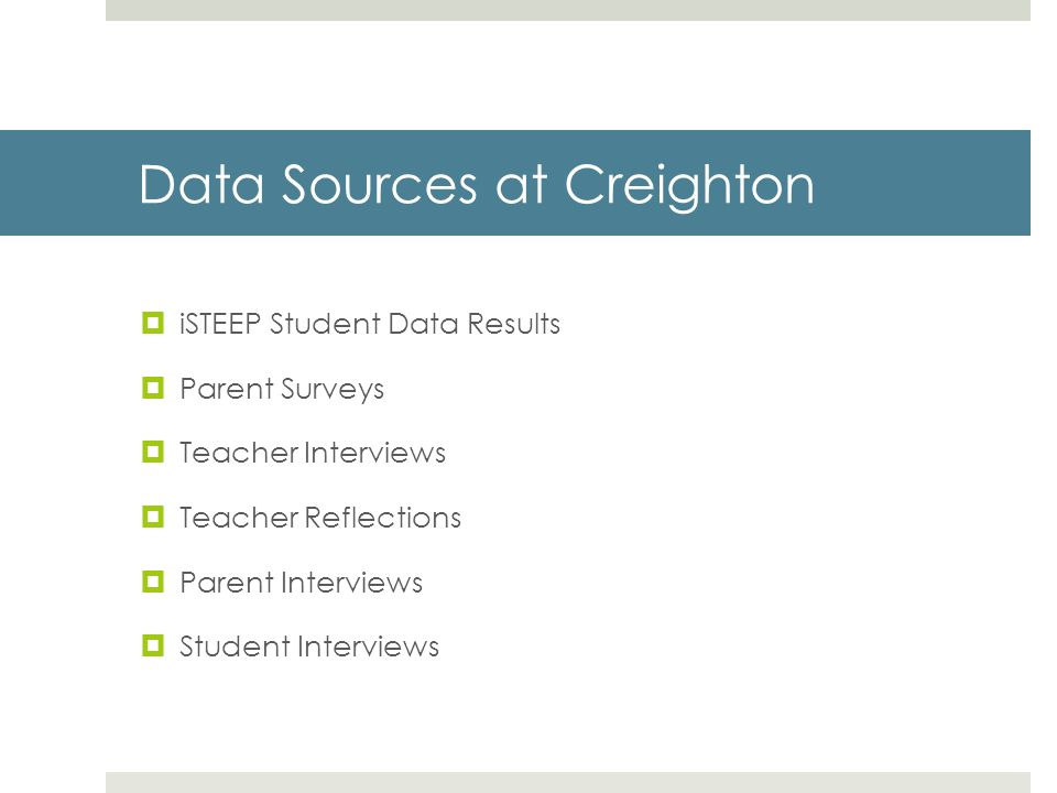 Data Sources at Creighton