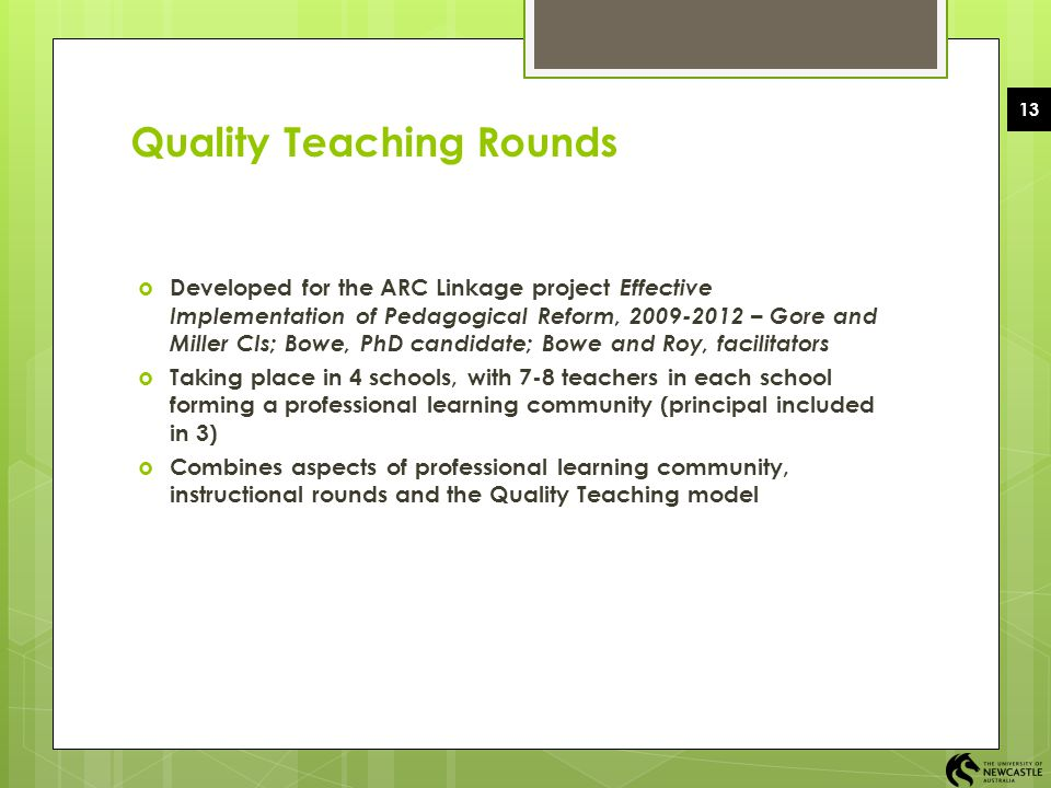 Quality Teaching Rounds
