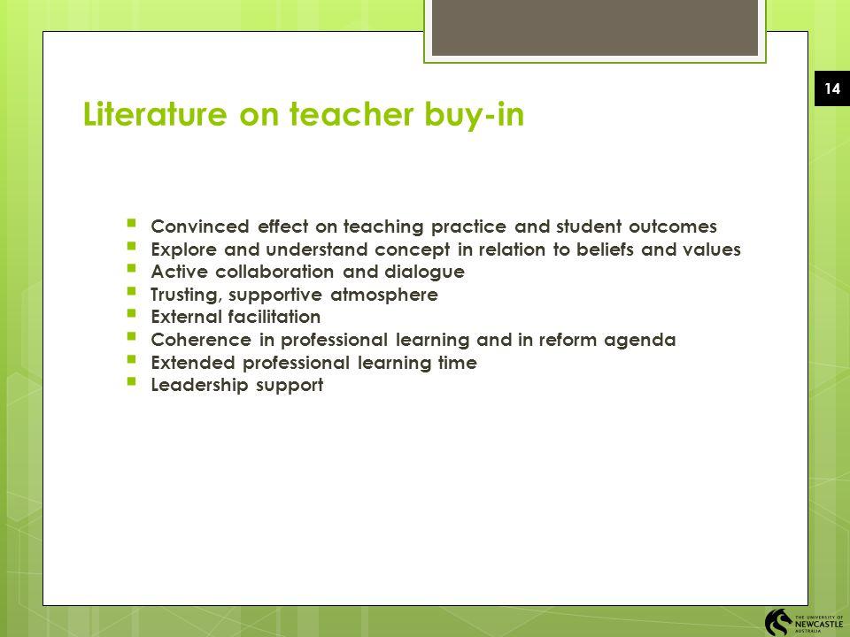 Literature on teacher buy-in