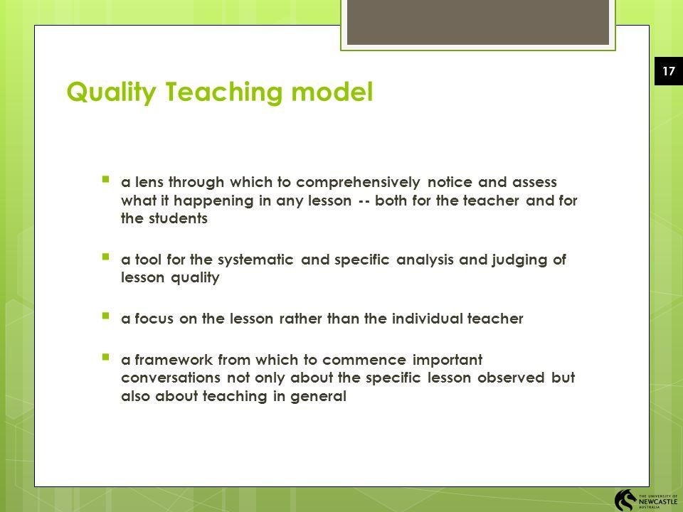 Quality Teaching model