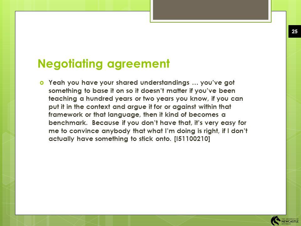 Negotiating agreement