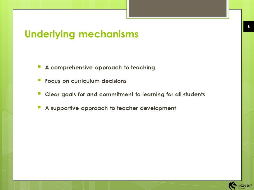 Underlying mechanisms